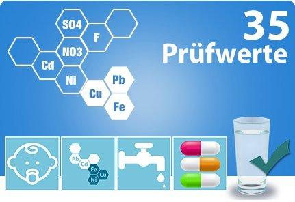 Wassertest / Trinkwassertest TOTAL mit 35 Prüfwerten | 1 Wasserprobe