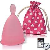Menstruationstasse CozyCup SPORT BPA-frei und vegan - Nachhaltige Menstruationstassen für sportliche Frauen (rosa, 2 - groß)