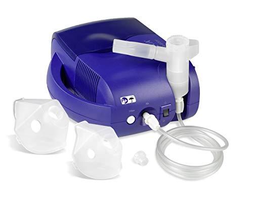 Inqua BR021000 Inhalator zur Behandlung von Atemwegserkrankungen, für Kinder ab 3 Jahren und Erwachsene, inklusive 20x2,5ml Inhalationslösung