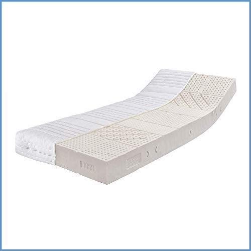 Ravensberger Matratzen® Latex Oeko TEX 100 LATEXCO | 7-Zonen Komfort- Matratze aus Latex H3 RG 65 (80-120 kg) | Made IN Europe - 10 Jahre Garantie | Bezug MEDICORE silverline® 90 x 200 cm