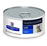 Hill' S Verschreibung Diet Feline z/d Verwaltung der Ultra Allergien & Gesundheit der Haut Nahrung für Katzen Dosen 24x 156g