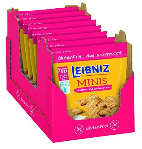 LEIBNIZ Minis Gluten- und Laktosefrei - 8er Pack – Miniatur Butterkekse ohne Gluten und Laktose – im Vorteilspack (8 x 100 g)