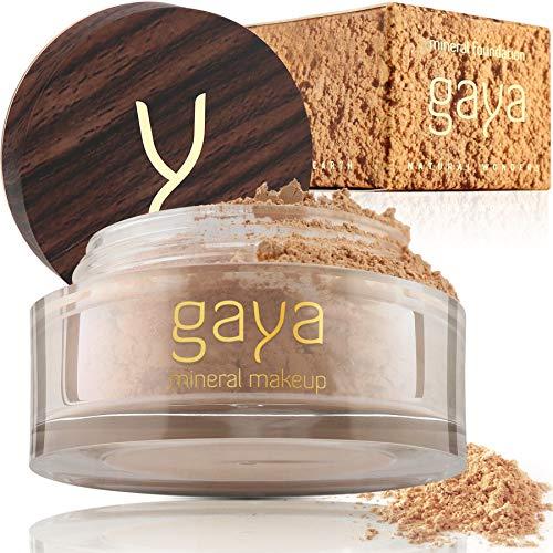 Mineral Foundation Make Up Puder – Vegane Professionelle Natürliche Full Coverage Hochdeckendes Makeup Powder für empflindliche Haut (Schattierung MF4)
