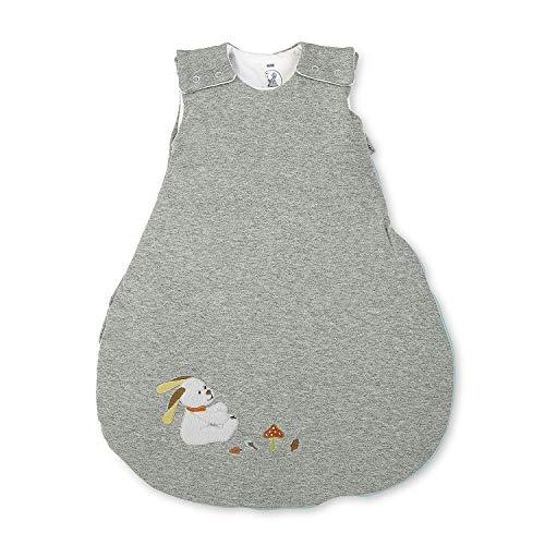Sterntaler Schlafsack für Babys, Reißverschluss und Knöpfe, Größe: 62/68, Waldis, Grau