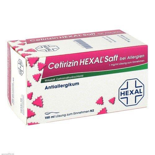Cetirizin HEXAL bei Allergien, 150 ml Saft