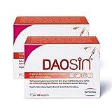 DAOSiN® Spar-Set 2x60Kapseln. Unterstützt den Abbau von Histamin aus der Nahrung. Frei von Gelantine, Histamin, Laktose, Fruktose, Gluten und künstlichen Farbstoffen
