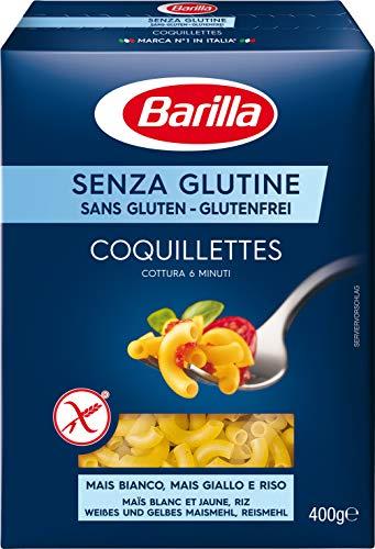 Barilla Senza Glutine Sortiment 1 x Fusilli- 1 x Stelline 1 x Penne Rigate 1x Tortiglioni 2x Spaghetti je 400g = 2400g