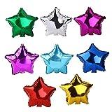 Pixnor 8 Stück Stern Helium Luftballons Rolle Metallic Folie Farbe zufällig.
