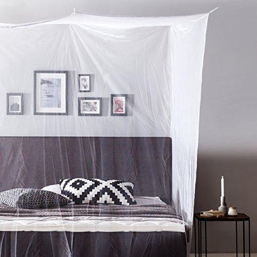 Lumaland Moskitonetz Mückennetz Insektenabwehr eckig 220 x 200 x 210 cm Indoor Outdoor Reise travel waschbar Polyester