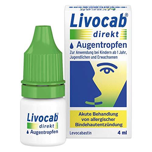 Livocab® direkt Augentropfen (4 ml) | Akuthilfe bei Allergie | Schnelle Hilfe bei allergischer Bindehautentzündung | Wirkungsvoll ab der 1. Anwendung