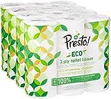 Amazon-Marke: Presto! 3-lagiges ECO Toilettenpapier, 36 Rollen (4 x 9 x 200 Blätter)