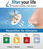 filter your life Nasenfilter Größe S, 7 Stück