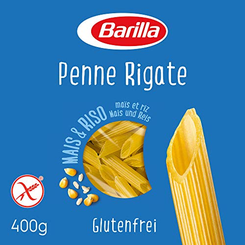 Barilla Pasta Penne Rigate glutenfrei aus Reis und Mais – 1er Pack (1 x 400g)