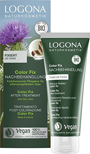LOGONA Naturkosmetik Color Fix Nachbehandlung bei Pflanzen-Haarfarben, Fixiert die Farbe, Haarkur, Vegan, 2er Pack(2 x 100 ml)