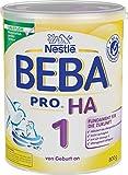 Nestlé BEBA PRO HA 1 Anfangsnahrung, hypoallergene Säuglings-Nahrung, von Geburt an, sättigend, 1er Pack (1 x 800g)