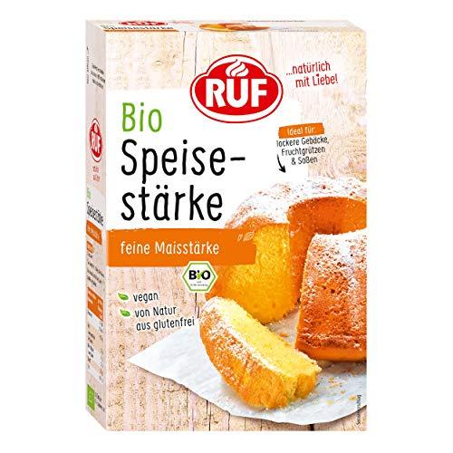 RUF Bio Speisestärke aus reiner Maisstärke Glutenfrei, 9er Pack (9 x 400 g)