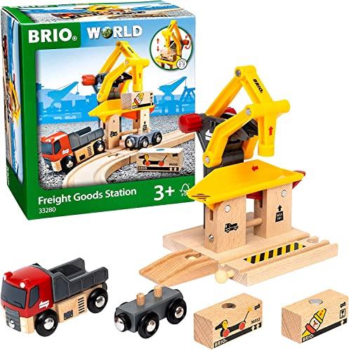 BRIO World 33280 Frachtverladestation – Eisenbahnzubehör für die BRIO Holzeisenbahn – Kleinkinderspielzeug empfohlen für Kinder ab 3 Jahren