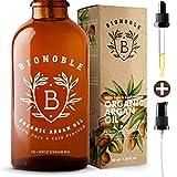 BIONOBLE BIO ARGANÖL 100% Rein, Natürlich, Kaltgepresst & Vegan | Glaspipette und Pumpe, Recycelbare Glasflasche | Argan Öl für Haare, Haut, Gesicht, Körper & Nägel | Argan Oil of Morocco (50ml)