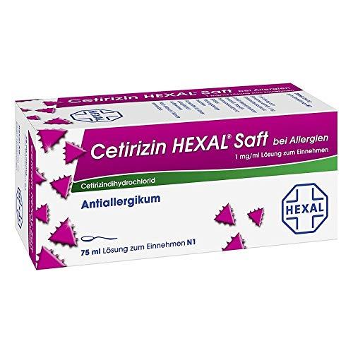 Cetirizin HEXAL Saft bei Allergien, 75 ml