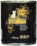 catz finefood Purrrr Känguru Monoprotein Katzenfutter nass N° 107, für ernährungssensible Katzen, 70% Fleischanteil, 6 x 800g Dose
