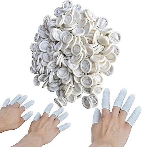 OurLeeme Gel-Fingerlinge, Einweg-Fingerlinge aus Latex Fingerschutz Anti-Statik-Ingerspitze aus Gummi Schützen für die elektronische Reparatur Lackierschmuck (300 STÜCKE)