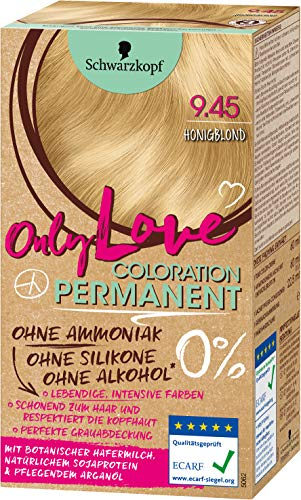 SCHWARZKOPF ONLY LOVE Coloration, Haarfarbe 9.45 Honigblond, Stufe 3, 1er Pack (1 x 143 ml)