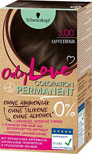 Schwarzkopf Only Love Coloration, Haarfarbe 3.00 Kaffeebraun, 143 ml