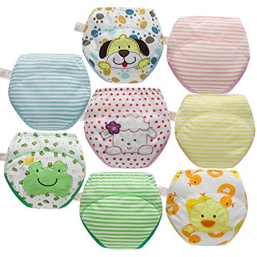 Skhls Baby Kleinkind Töpfchen Trainingshose Waschbare Lernwindel Unterwäsche,8pcs,3jahre